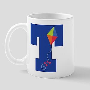Letter T Kite Monogram Initial T Mug