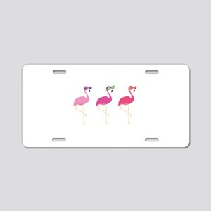 Cool Flamingos Aluminum License Plate