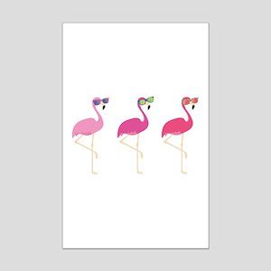 Cool Flamingos Mini Poster Print