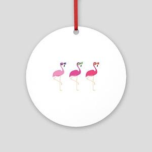Cool Flamingos Ornament (Round)