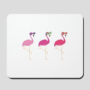 Cool Flamingos Mousepad
