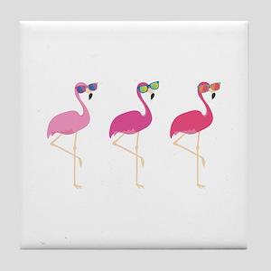 Cool Flamingos Tile Coaster