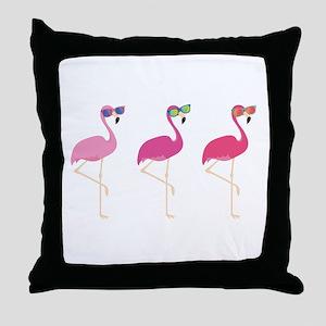 Cool Flamingos Throw Pillow