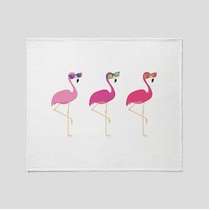 Cool Flamingos Stadium Blanket