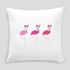 Cool Flamingos Everyday Pillow