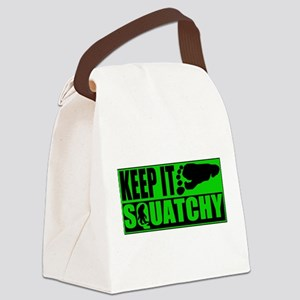 Keep it Squatchy green Canvas Lunch Bag