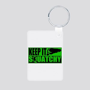 Keep it Squatchy green Aluminum Photo Keychain