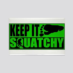 Keep it Squatchy green Rectangle Magnet
