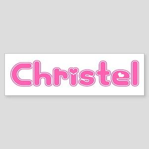 """Christel"" Bumper Sticker"