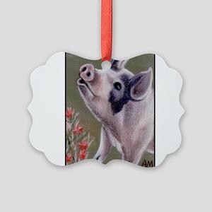 cafesingingpig Picture Ornament