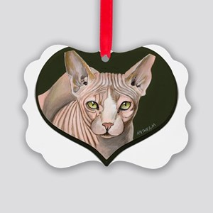 sphynx3 Picture Ornament