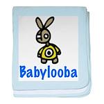 rabbitandtextcombo_copy baby blanket