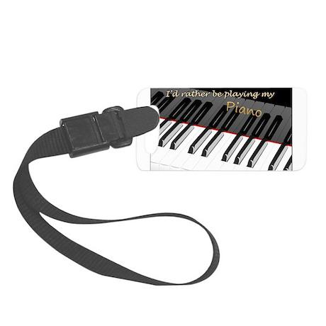 piano Small Luggage Tag