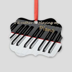 piano Picture Ornament