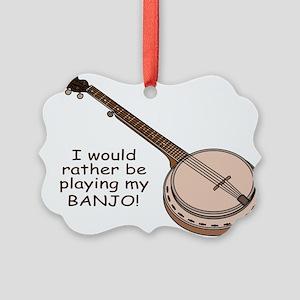 banjotshirt Picture Ornament