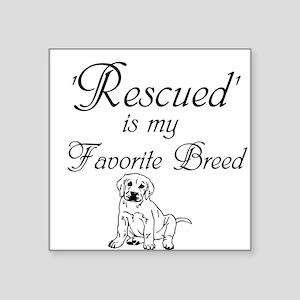 Rescued Dog Sticker