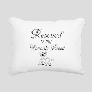 Rescued Dog Rectangular Canvas Pillow