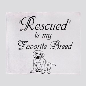 Rescued Dog Throw Blanket