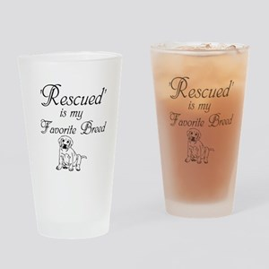 Rescued Dog Drinking Glass