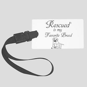 Rescued Dog Luggage Tag