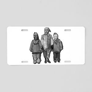 WEIRD OLD HALLOWEEN KIDS Aluminum License Plate