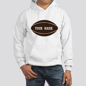 Personalized Rugby Ball Hooded Sweatshirt