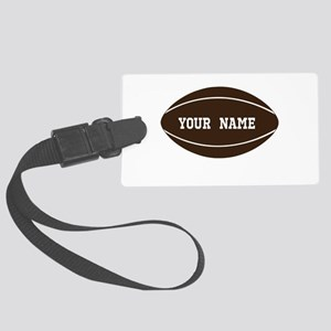Personalized Rugby Ball Large Luggage Tag