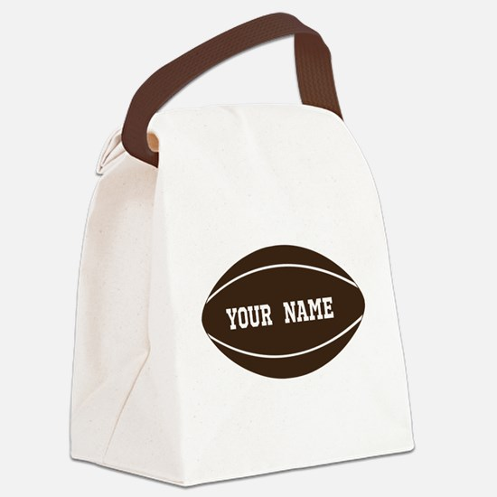 Personalized Rugby Ball Canvas Lunch Bag