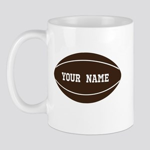 Personalized Rugby Ball Mug