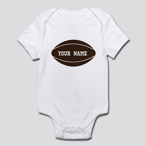 Personalized Rugby Ball Infant Bodysuit