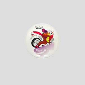 Biker Duck Chick Mini Button