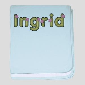 Ingrid Spring Green baby blanket