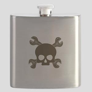 SkullCrossWrenches Flask