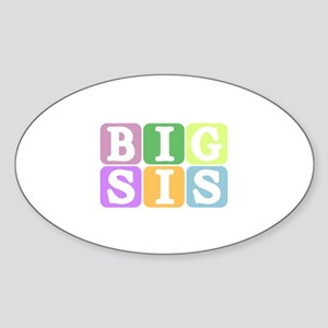 Big Sis Oval Sticker