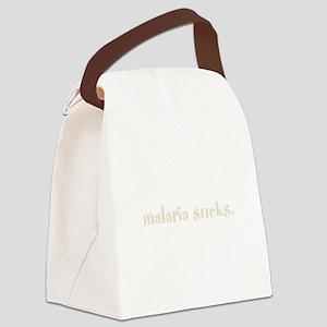 WORDS_Malaria Sucks Canvas Lunch Bag