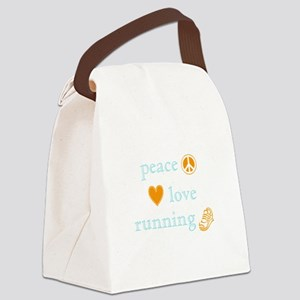 PeaceLoveRunning Canvas Lunch Bag