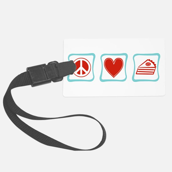 PeaceLovePieSquares.png Luggage Tag