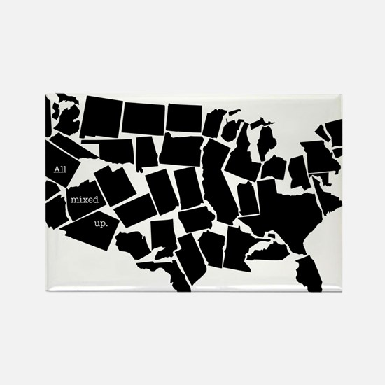 America: All Mixed Up Rectangle Magnet