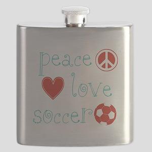 PeaceLoveSoccer Flask