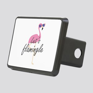 Let's Flamingle Rectangular Hitch Cover