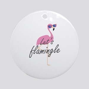 Let's Flamingle Ornament (Round)