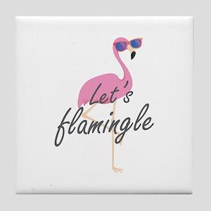 Let's Flamingle Tile Coaster