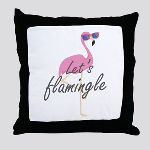 Let's Flamingle Throw Pillow