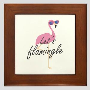 Let's Flamingle Framed Tile