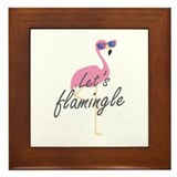 Lets flamingle Framed Tiles