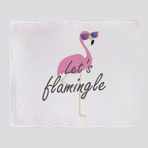 Let's Flamingle Stadium Blanket