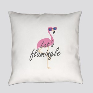 Let's Flamingle Everyday Pillow