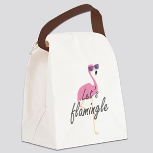 Let's Flamingle Canvas Lunch Bag
