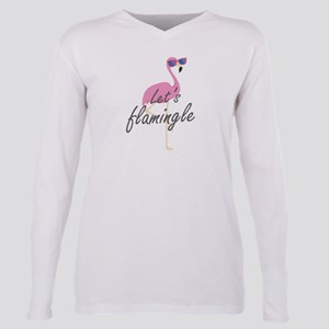 Let's Flamingle Plus Size Long Sleeve Tee