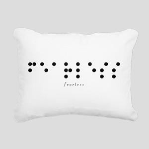 Braille-Fearless Rectangular Canvas Pillow